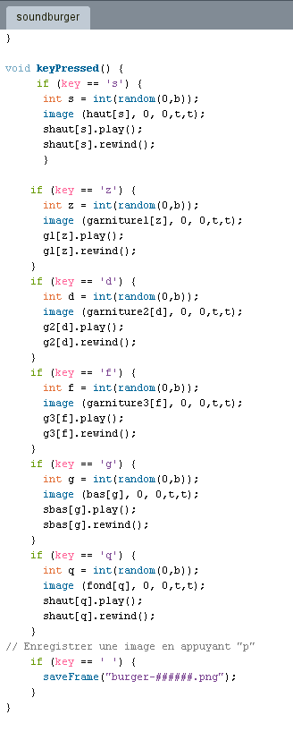 code processing soundburger