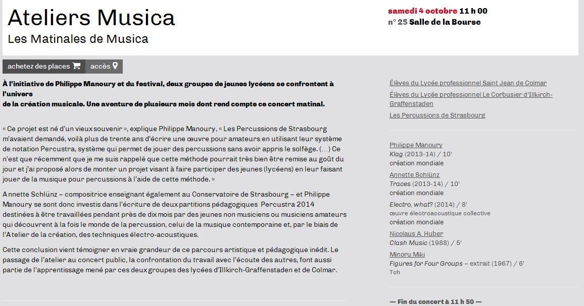 Site Musica concert Percustra